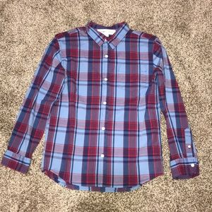 Old Navy, Red & Blue Plaid button down shirt